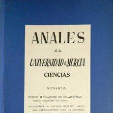 Libros de segunda mano de Ciencias: ANALES DE LA UNIVERSIDAD DE MURCIA. CIENCIAS. VOLÚMEN XVI, Nº 3-4 [D]. 1957-1958.. Lote 72099811