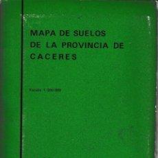 Libros de segunda mano: MAPA DE SUELOS DE LA PROVINCIA DE CÁCERES (CSIC 1970) SIN USAR.. Lote 204727926