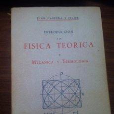 Libros de segunda mano de Ciencias: FISICA TEORICA TOMOS I - II. Lote 72761379