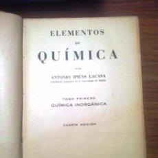 Libros de segunda mano de Ciencias: ELEMENTOS DE QUIMICA. Lote 72814971