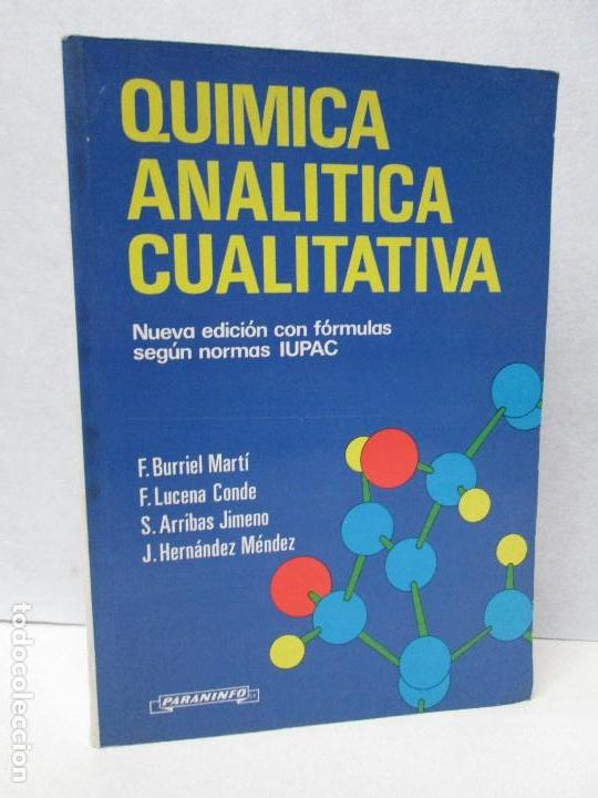 Quimica analitica cualitativa nueva edicion comprar - Segunda mano lucena ...