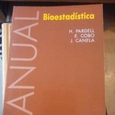 Libros de segunda mano de Ciencias: MANUAL DE BIOESTADÍSTICA (BARCELONA, 1992). Lote 74015883