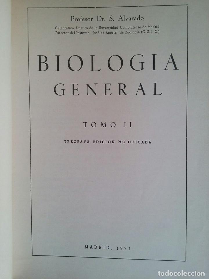 Libros de segunda mano: BIOLOGÍA GENERAL I Y II (2 VOLÚMENES) - SALUSTIO ALVARADO (13ª ED. 1974) - Foto 4 - 74445035