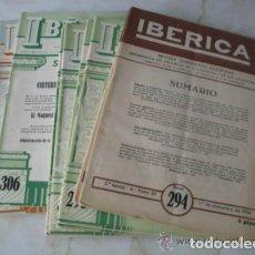 Libros de segunda mano de Ciencias: REVISTA IBERICA. NUMEROS 294,295,DICIEMBRE DE 1954,296,297,305,306,310,313, DEL AÑO 1955. Lote 74689203