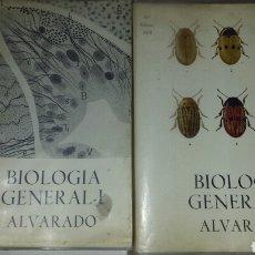 Libros de segunda mano: BIOLOGIA GENERAL I Y II ( 2 VOLÚMENES) -SALUSTIO ALVARADO. 10°ED.1970. Lote 74768497