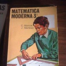 Libros de segunda mano de Ciencias: MATEMÁTICAS MODERNAS 3º CURSO DE BACHILLERATO PLAN 1967. Lote 75247163