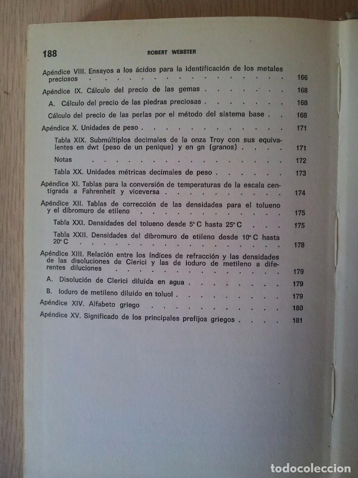 Libros de segunda mano: ROBERT WEBSTER - DICCIONARIO DE GEMOLOGIA - EDICIONES JOVER 1971 - Foto 7 - 76008123