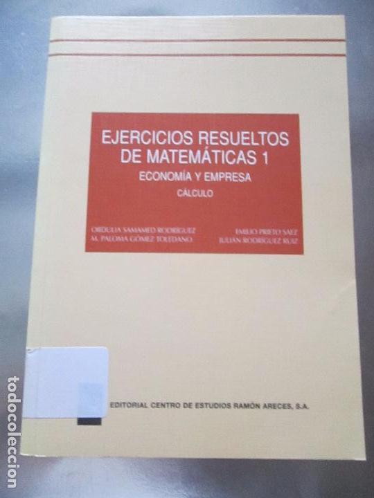 libro-ejercicios resueltos de matemáticas 1-eco - Comprar Libros de ...