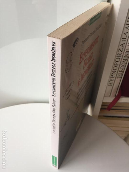 Libros de segunda mano de Ciencias: EXPERIMENTOS FÁCILES E INCREIBLES - FUNDACIÓN THOMAS ALVA EDISON - EDITORIAL MARTINEZ ROCA - Foto 2 - 77540413