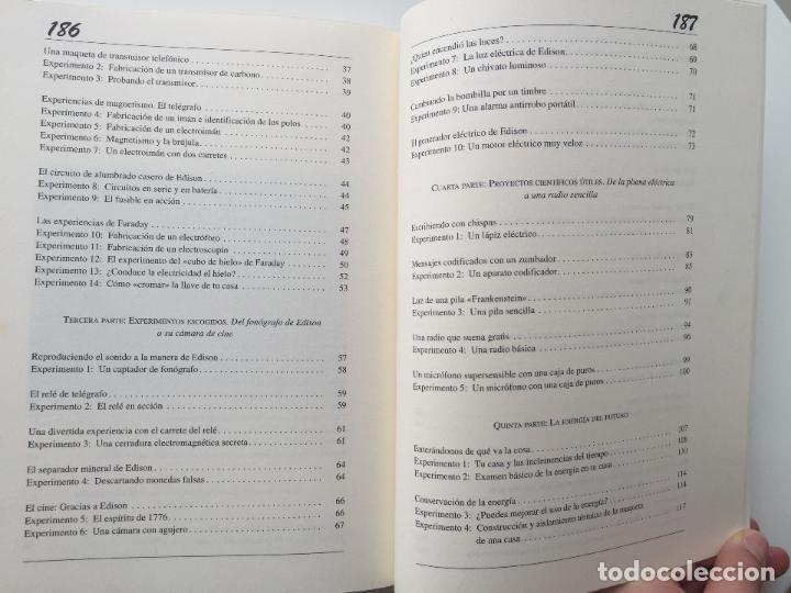 Libros de segunda mano de Ciencias: EXPERIMENTOS FÁCILES E INCREIBLES - FUNDACIÓN THOMAS ALVA EDISON - EDITORIAL MARTINEZ ROCA - Foto 6 - 77540413