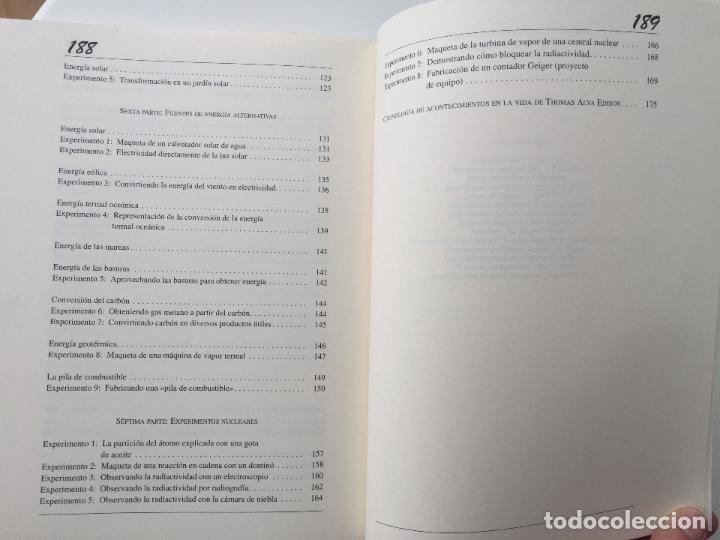 Libros de segunda mano de Ciencias: EXPERIMENTOS FÁCILES E INCREIBLES - FUNDACIÓN THOMAS ALVA EDISON - EDITORIAL MARTINEZ ROCA - Foto 7 - 77540413