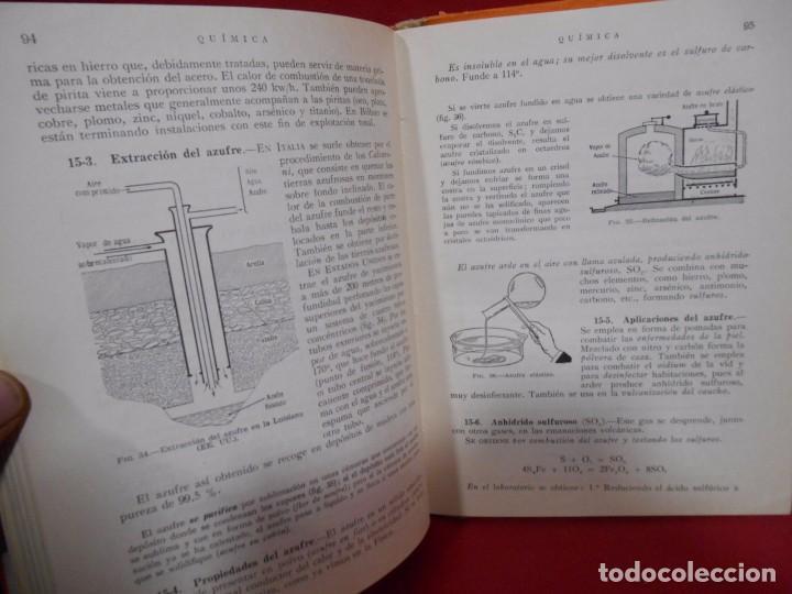 Libros de segunda mano de Ciencias: QUIMICA – QUINTO CURSO PLAN 1957 - - Foto 3 - 78281269
