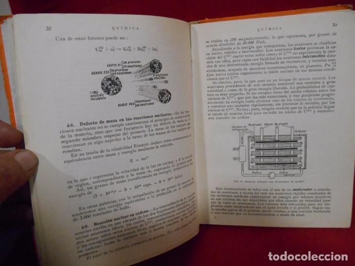 Libros de segunda mano de Ciencias: QUIMICA – QUINTO CURSO PLAN 1957 - - Foto 4 - 78281269