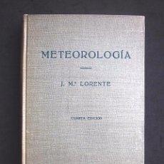 Libros de segunda mano de Ciencias: J. Mª. LORENTE: METEOROLOGÍA. ED. LABOR, BARCELONA, 4ª EDICIÓN, 1961. Lote 78338761