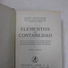 Libros de segunda mano de Ciencias: ELEMENTOS DE CONTABILIDAD. POR LEON BATARDON. EDT LABOR. Lote 79094345