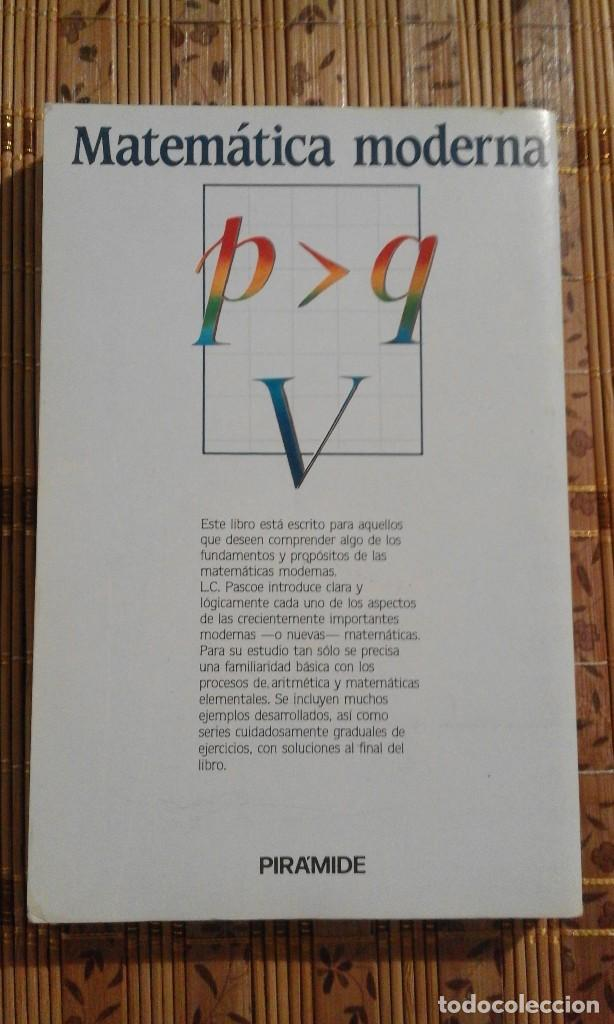 Libros de segunda mano de Ciencias: Aprende tú solo Matemática moderna - L.C. Pascoe - 1987 - Foto 2 - 136747809