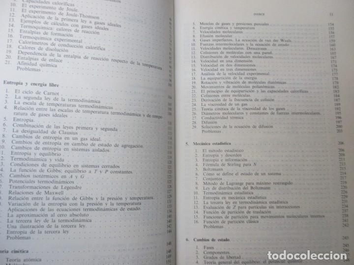 Libros de segunda mano de Ciencias: QUIMICA FISICA - WALTER J. MOORE - EDI URMO 1978 DOS TOMOS EXCELENTE + INFO - Foto 4 - 79919205