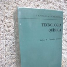 Libros de segunda mano de Ciencias: TECNOLOGIA QUIMICA - J. M. COULSON - EDI FUNDAÇAO CALOUSTE GULBEKIAN 1968 EN PORTUGUES + INFO . Lote 79930629