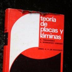 Libros de segunda mano de Ciencias: TEORIA DE PLACAS Y LAMINAS - S. TIMOSHENKO / S. WOINOWSKY - KRIEGER - TAPA DURA - RARO. Lote 79995277