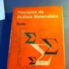 Libros de segunda mano de Ciencias: PRINCIPIOS DE ANALISIS MATEMATICO - WALTER RUDIN. Lote 80122377