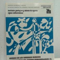 Libros de segunda mano: ESTUDIO RECURSOS HÍDRICOS SUBTERRÁNEOS SISTEMA HIDROGEOLÓGICO 74. CAMP DE TARRAGONA IGME 1986. Lote 80151559