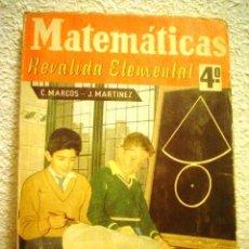 Libros de segunda mano de Ciencias: MATEMÁTICAS.REVALIDA ELEMENTAL.4º.. Lote 80359297