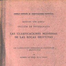 Libros de segunda mano: LAS CLASIFICACIONES MODERNAS DE LAS ROCAS ERUPTIVAS (M. SAN MIGUEL 1941) SIN USAR. Lote 81927140