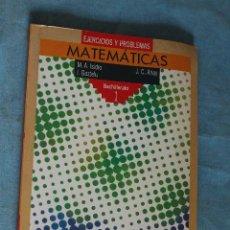 Libros de segunda mano de Ciencias: MATEMATICAS, EJERCICIOS Y PROBLEMAS, BACHILLERATO 1, ANAYA 1991 . Lote 82209176