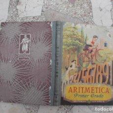 Libros de segunda mano de Ciencias: ARITMETICA PRIMER GRADO POR EDELVIVES ,EDITORIAL LUIS VIVES,1966,128 PAGINAS 15X21,. Lote 82447548