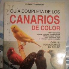 Libros de segunda mano: GUIA COMPLETA DE LOS CANARIOS DE COLOR -REFMENOEN. Lote 84469320
