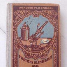 Libros de segunda mano de Ciencias: PRACTICAS ELEMENTALES DE FISICA Y QUIMICA JOAQUIN PLA CARGOL. EDITORES GERONA 1942.. Lote 86160752