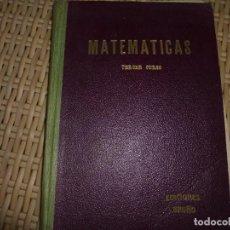 Libros de segunda mano de Ciencias: MATEMATICAS. TERCER CURSO DE BACHILLERATO. (PLAN 1953). EDICIONES BRUÑO. TAPA DURA. 294 PAGINA. Lote 86590196