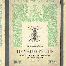 Libros de segunda mano: ELS NOSTRES INSECTES, 3 VOL. JOAQUIM VILARRÚBIA.. Lote 86622288