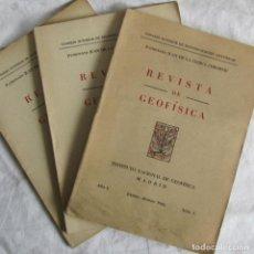 Libros de segunda mano: NÚMEROS 1 + 2 + 3 DE LA REVISTA DE GEOFÍSICA 1942. INSTITUTO NACIONAL DE GEOFÍSICA. CSIC. Lote 88778104