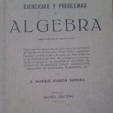 Libros de segunda mano de Ciencias: ALGEBRA EJERCICIOS Y PROBLEMAS. Lote 88830732
