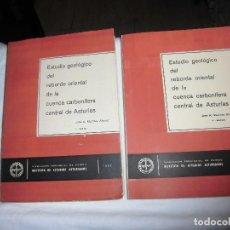 Libros de segunda mano: ESTUDIO GEOLOGICO DEL REBORDE ORIENTAL DE LA CUENCA CARBONIFERA CENTRAL DE ASTURIAS. 2 TOMOS: I.-TEX. Lote 88917388
