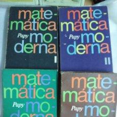 Libros de segunda mano de Ciencias: MATEMÁTICA MODERNA-PAPY 4 TOMOS-Nº. 1, 2. 3 Y 5. Lote 123979703