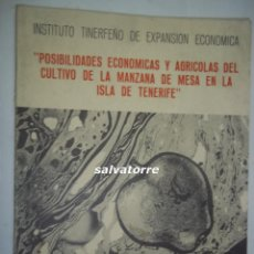 Libros de segunda mano: ILDEFONSO LA ROCHE MACHADO.LA MANZANA DE MESA ISLA DE TENERIFE.1974.CANARIAS.. Lote 88937184