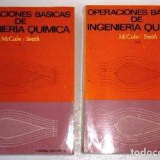 Libros de segunda mano de Ciencias: OPERACIONES BÁSICAS DE INGENIERÍA QUÍMICA 2T POR MCCABE Y SMITH DE REVERTÉ EN BARCELONA 1975. Lote 89119504