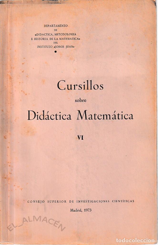 CURSILLOS SOBRE DIDÁCTICA MATEMÁTICA VI (CSIC 1972) SIN USAR (Libros de Segunda Mano - Ciencias, Manuales y Oficios - Física, Química y Matemáticas)