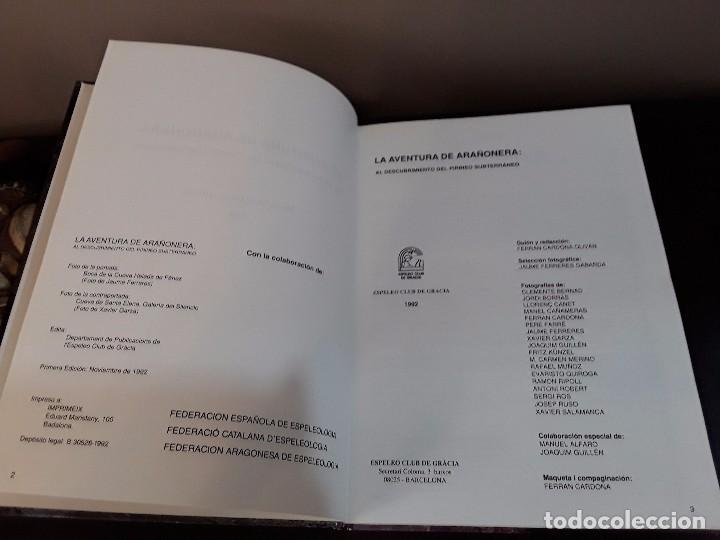Libros de segunda mano: ESPEOLOGIA -LA AVENTURA DE ARAÑONERA: AL DESCUBRIMIENTO DEL PIRINEO SUBTERRANEO. - Foto 3 - 89434836