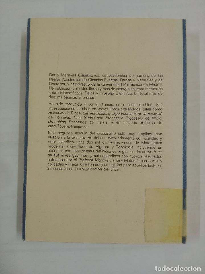 Libros de segunda mano de Ciencias: DICCIONARIO DE MATEMATICA MODERNA. DARIO MARAVALL CASESNOVES. EDITORA NACIONAL. TDK163 - Foto 2 - 90041884