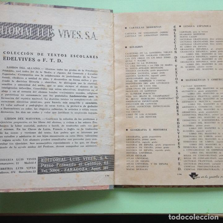 Libros de segunda mano: CIENCIAS FÍSICONATURALES - SEGUNDO GRADO - EDIT. LUIS VIVES - PERÍODO DE PERFECCIONAMIENTO - 1962 - Foto 2 - 90406889