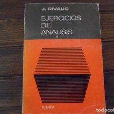 Libros de segunda mano de Ciencias: EJERCICIOS DE ANÁLISIS. Lote 90547955