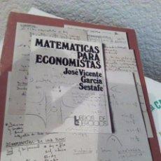 Libros de segunda mano de Ciencias: MATEMÁTICAS PARA ECONOMISTAS GARCIA SESTAFE. Lote 90885875