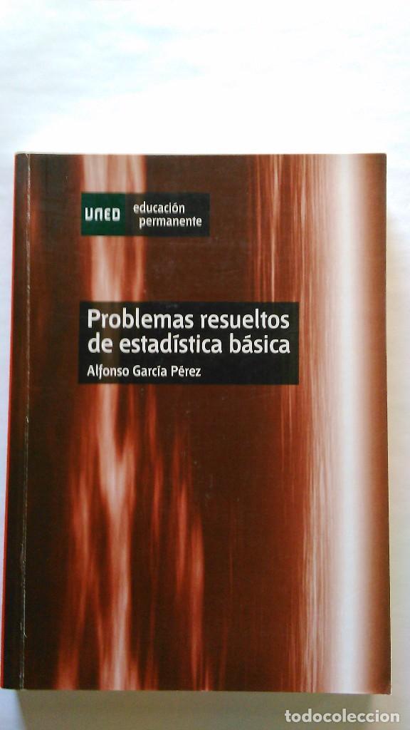 PROBLEMAS RESUELTOS DE ESTADÍSTICA BÁSICA. NUEVO (Libros de Segunda Mano - Ciencias, Manuales y Oficios - Física, Química y Matemáticas)
