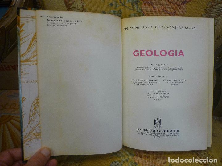 Libros de segunda mano: GEOLOGÍA, DE AIMÉ RUDEL. MONTANER Y SIMÓN, 1ª EDICIÓN 1.966. MUY ILUSTRADO. - Foto 4 - 91302465