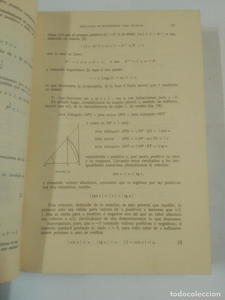 Libros de segunda mano de Ciencias: AMPLIACIÓN DE MATEMÁTICAS PARA TÉCNICOS. J.A. MARIN TEJERIZO. MADRID 1960. TDK312 - Foto 2 - 94166145