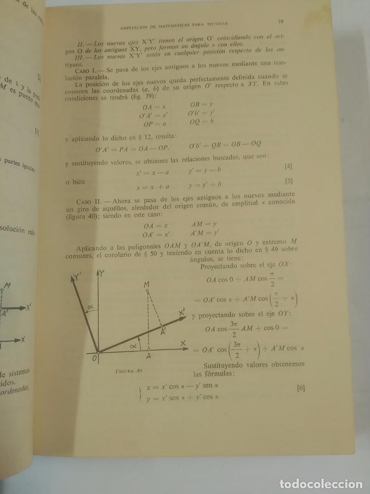 Libros de segunda mano de Ciencias: AMPLIACIÓN DE MATEMÁTICAS PARA TÉCNICOS. J.A. MARIN TEJERIZO. MADRID 1960. TDK312 - Foto 3 - 94166145