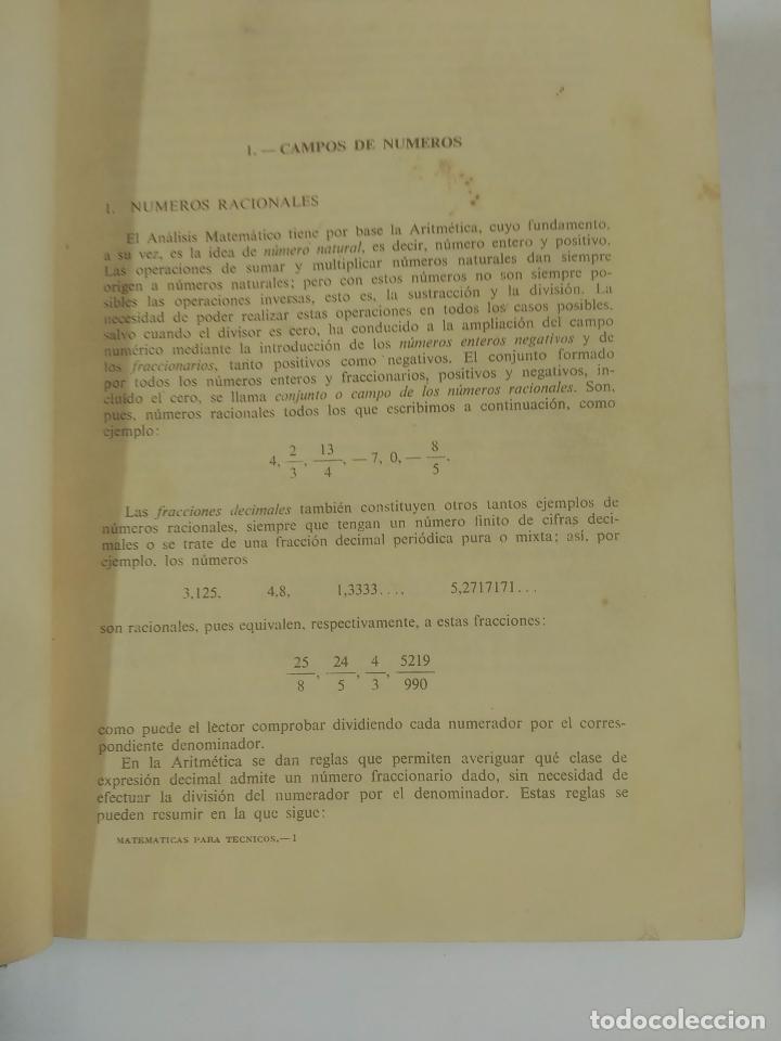 Libros de segunda mano de Ciencias: AMPLIACIÓN DE MATEMÁTICAS PARA TÉCNICOS. J.A. MARIN TEJERIZO. MADRID 1960. TDK312 - Foto 4 - 94166145